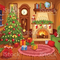 Xmas Lights Wiring Diagram 2000 Jetta Living Room Decorated For Christmas Clip Art - Best Site Harness