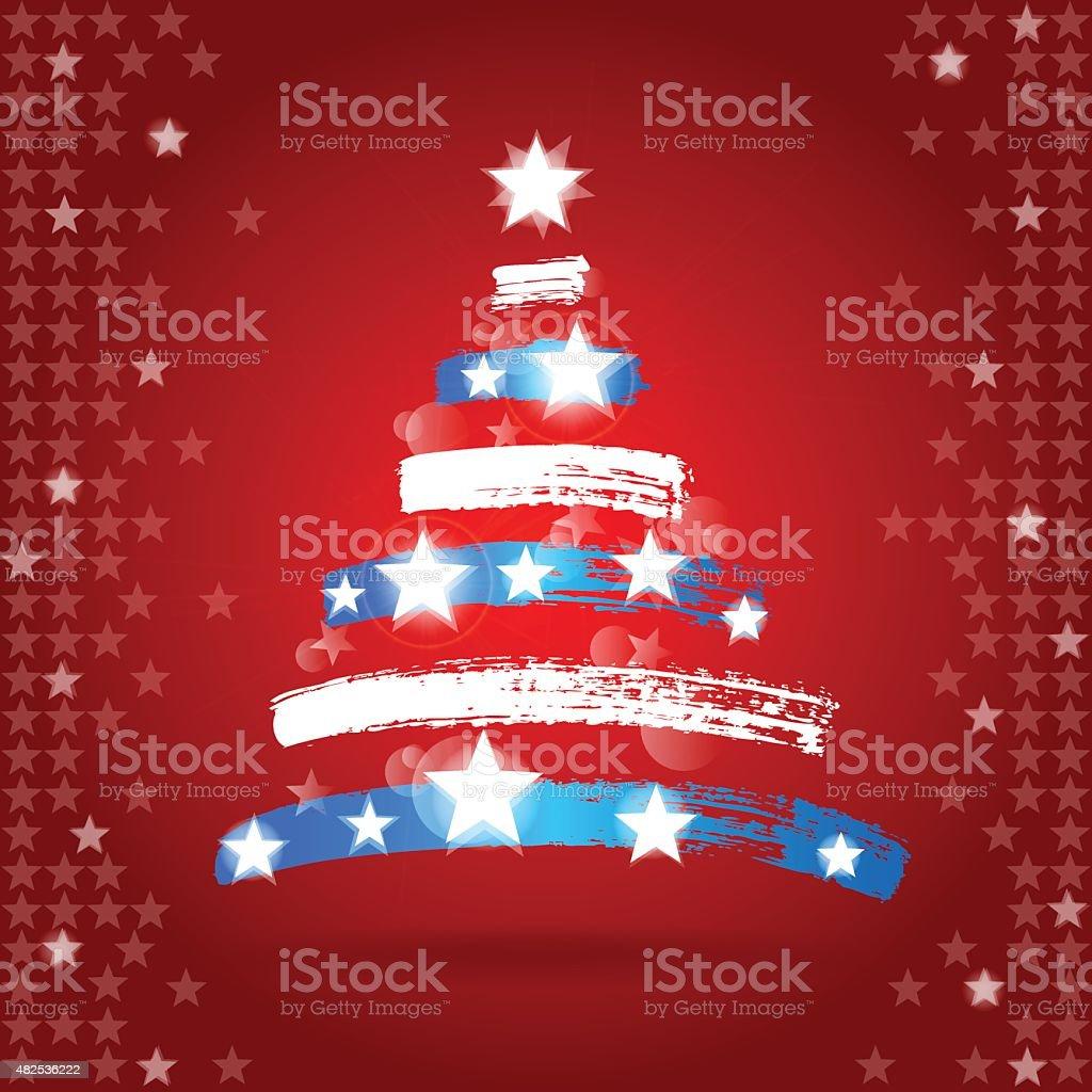 patriotic christmas illustrations