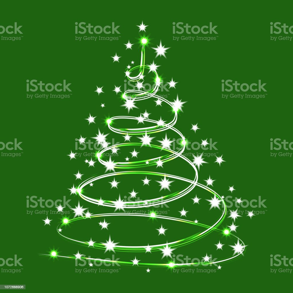 https www istockphoto com fr vectoriel arbre de no c3 abl brillent d c3 a9toiles scintillantes arbre de sparkle vecteur isol c3 a9 gm1072688906 287073622