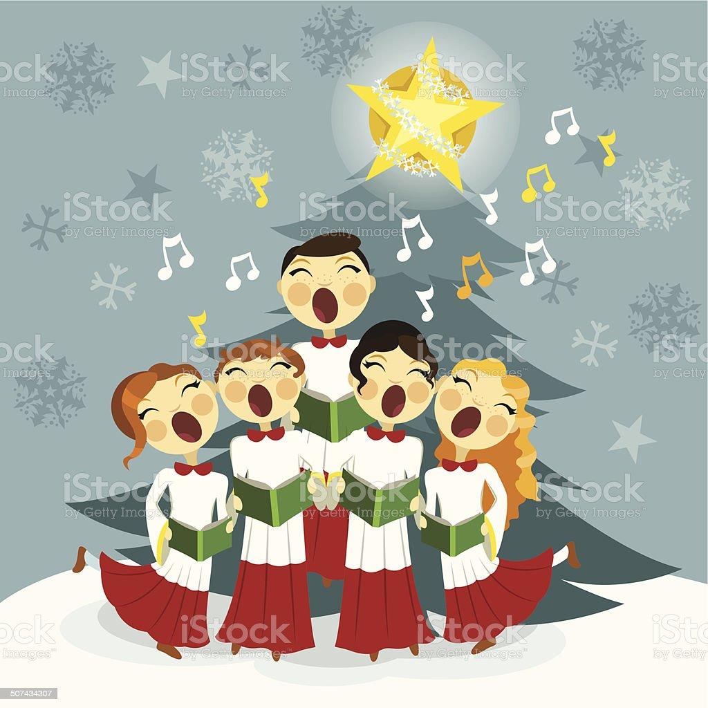 Black And Choir Art Christmas Clip White