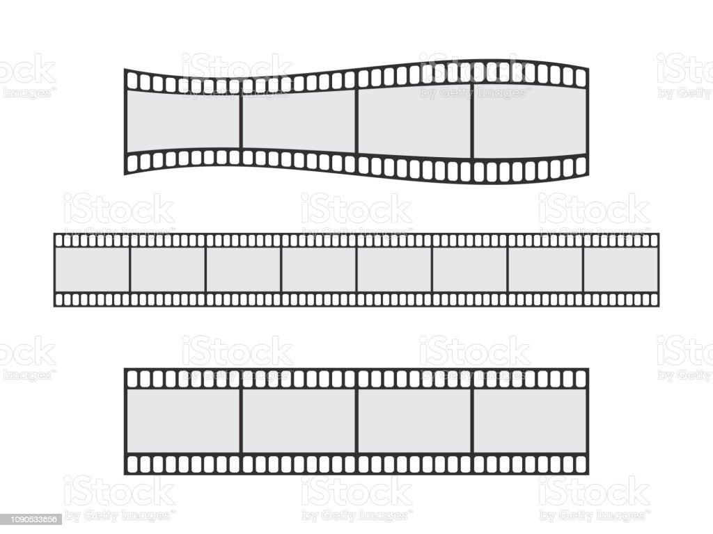 hight resolution of cinema film strip roll 35mm blank slide frame vector set frame picture photography and cinema film strip frame illustration illustration