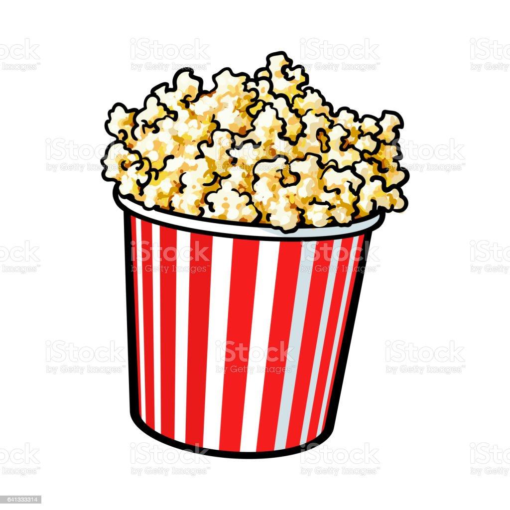 popping popcorn illustrations
