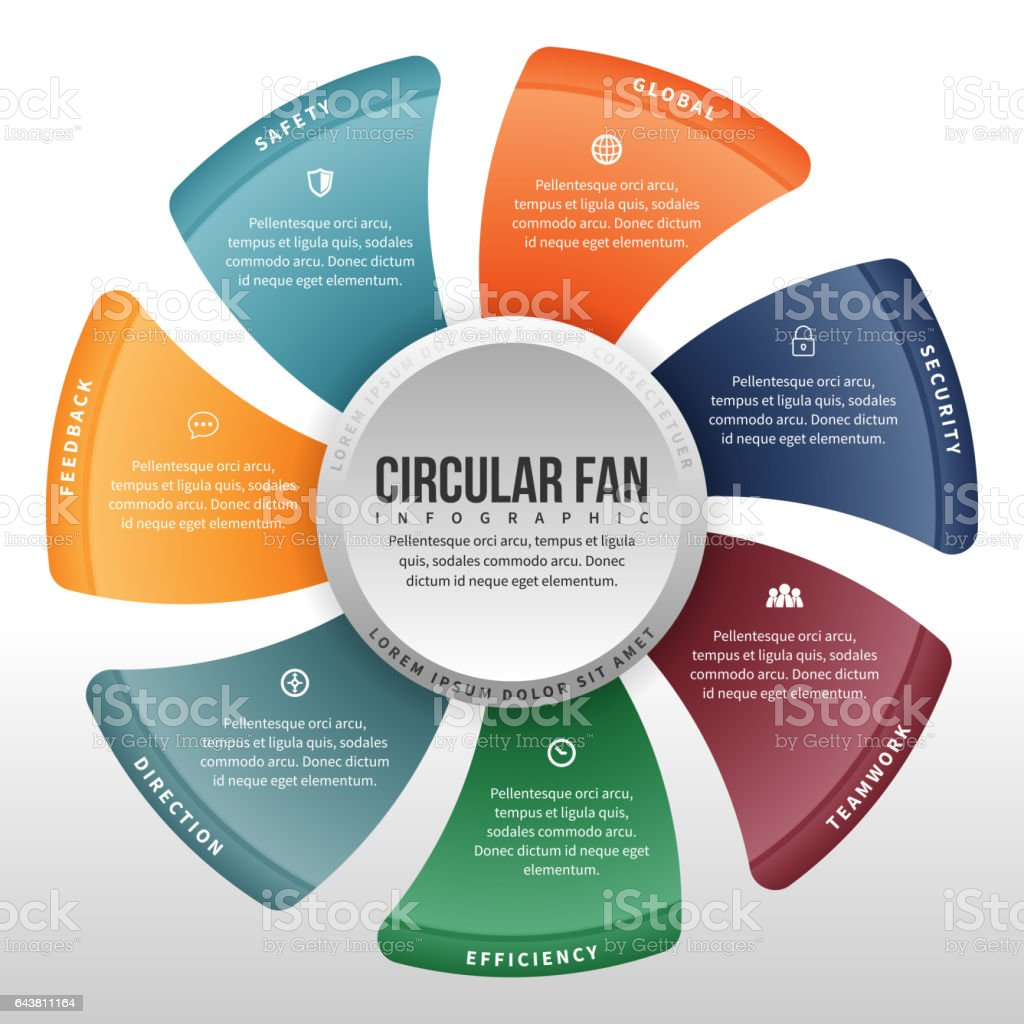 hight resolution of circular fan infographic royalty free circular fan infographic stock vector art amp more images