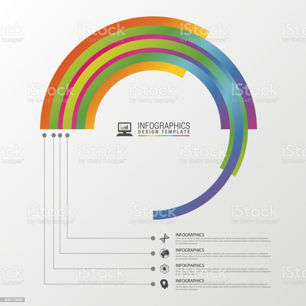 Circular Stylish Multicolor Round. Infographic Design Template.  Royalty-Free Circular Stylish Multicolor Round