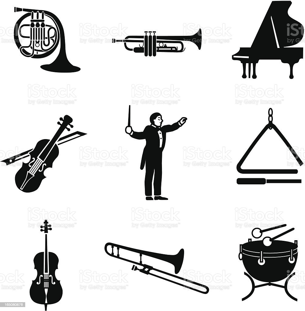 Classical Music Icons Stock Vector Art & More Images of