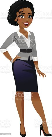 classy business woman stock vector