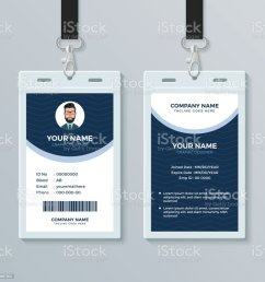clean and modern employee id card design template illustration  [ 1024 x 1024 Pixel ]