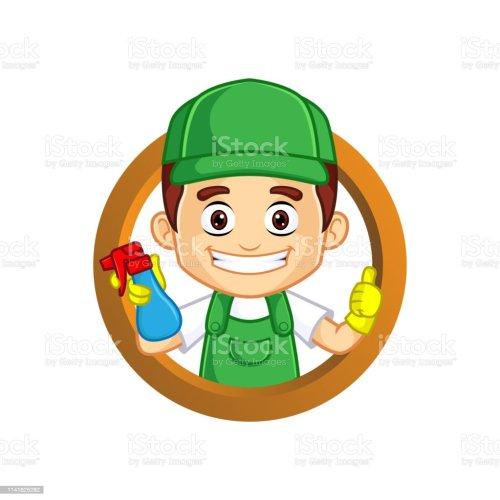 small resolution of servicio de limpieza clipart cartoon mascot ilustraci n de servicio de limpieza clipart cartoon mascot y m s