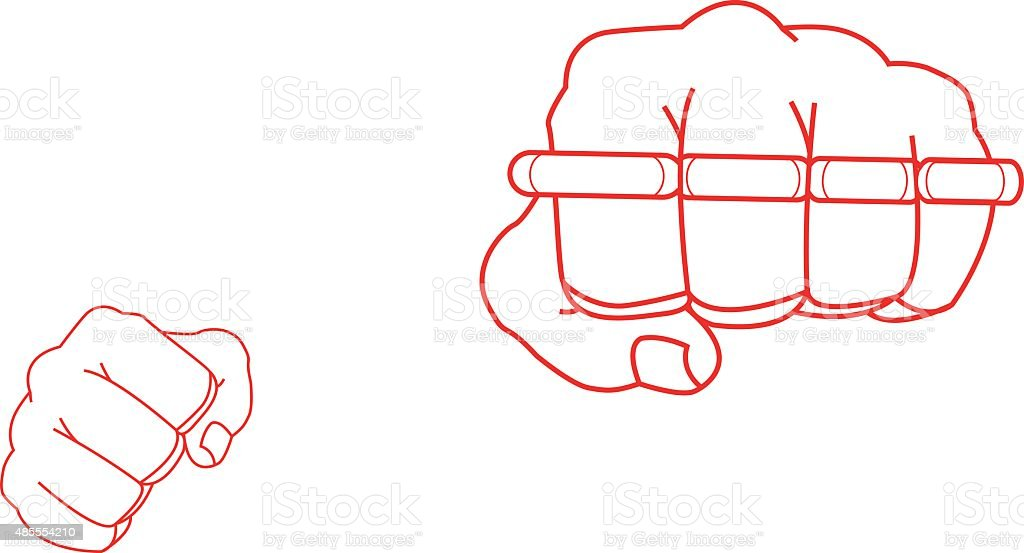 brass knuckles diagram understanding pv diagrams and calculating work done royalty free knuckle clip art vector images illustrations clenched fists holding punch contour illustration