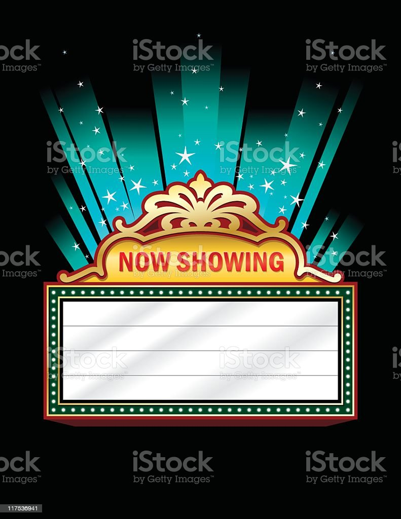 hight resolution of a clip art of a theater marquee illustration