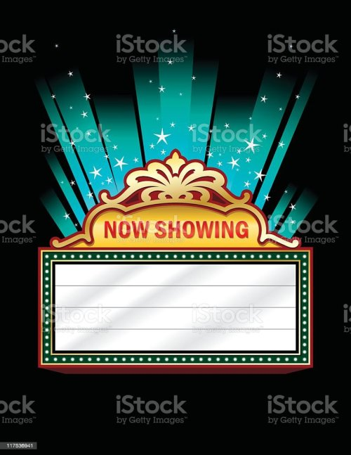 small resolution of a clip art of a theater marquee illustration