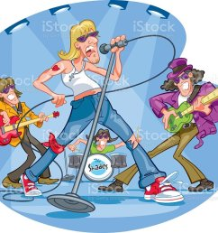clipart of a rock band performing illustration  [ 1024 x 872 Pixel ]