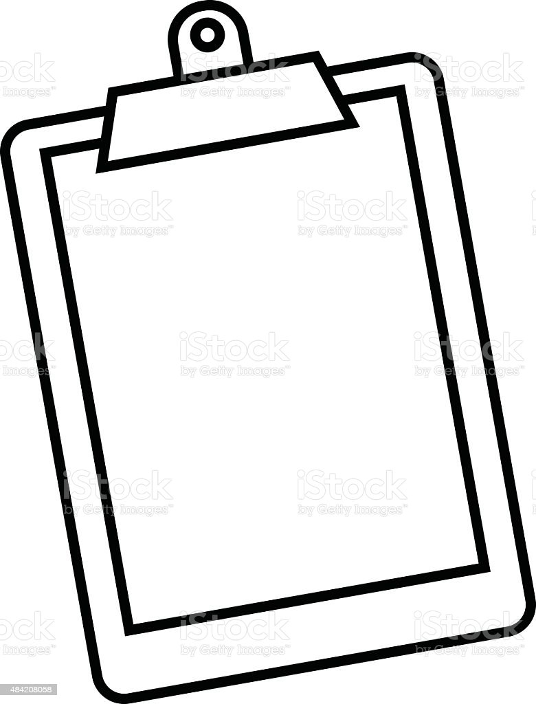 Clipboard Stock Vector Art & More Images of 2015 484208058