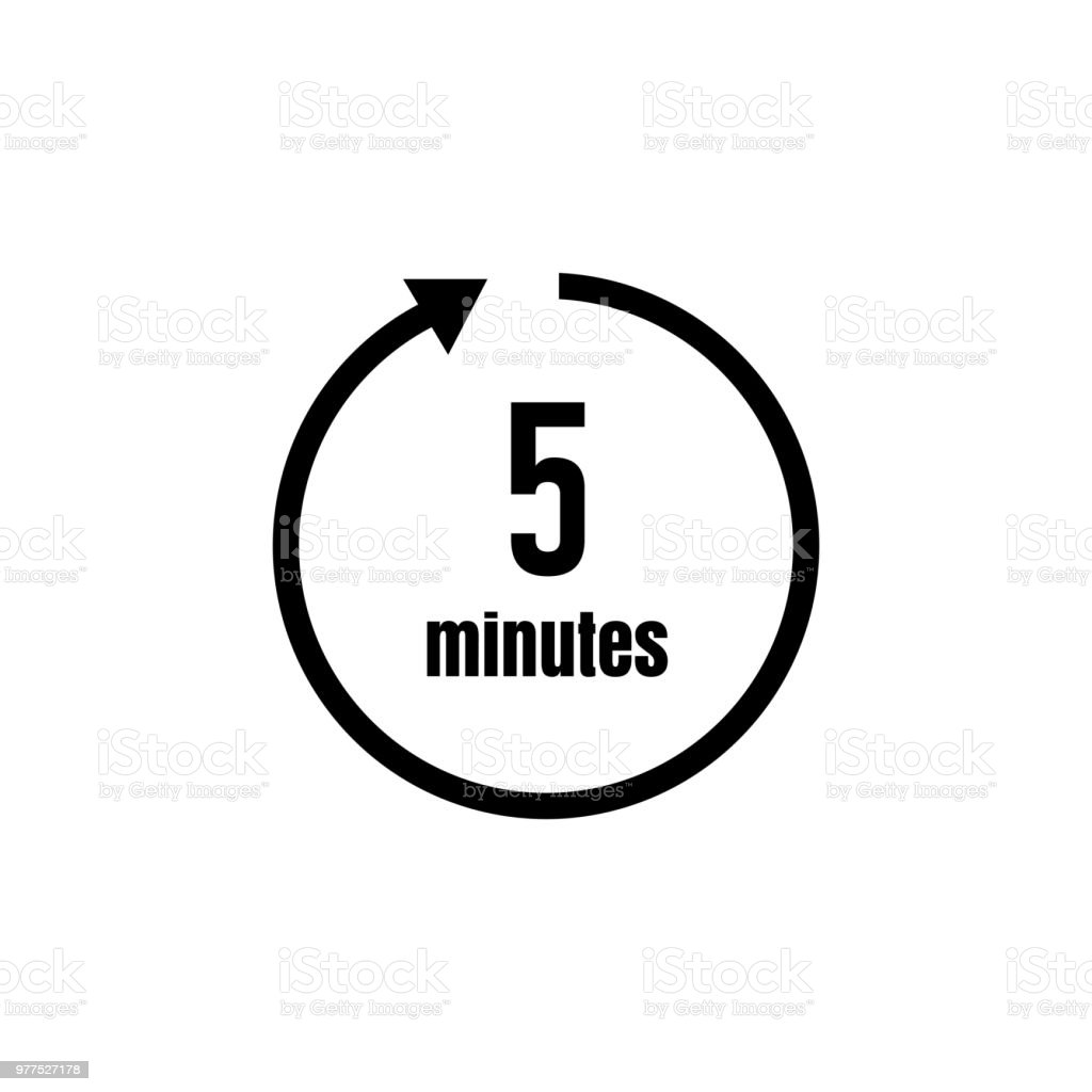 Clock Timer Icon 5 Minutes Stock Vector Art & More Images