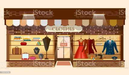 Clothes Store Building Facade Fashion Clothing Shop Interior Stock Illustration Download Image Now iStock