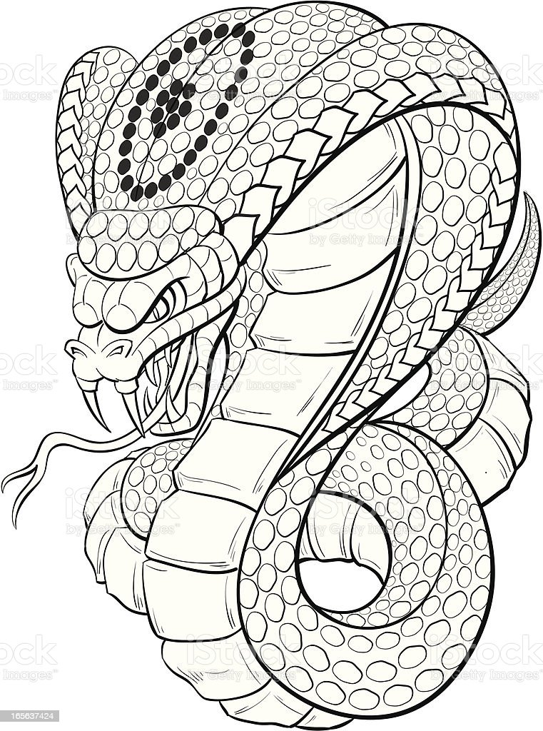 Cobra Black And White Stock Vector Art & More Images of