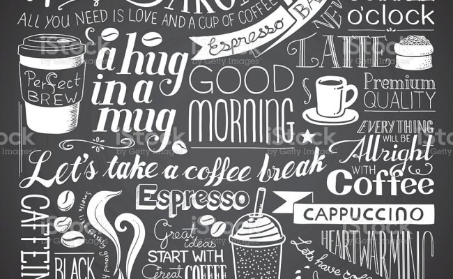 Coffee Icon Wallpaper Stock Illustration Download Image