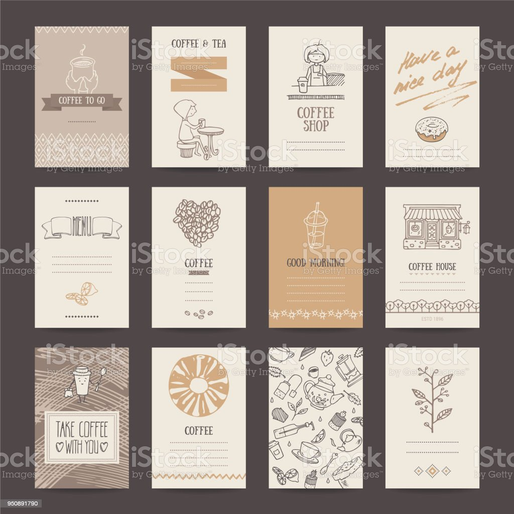 Coffee Shop Business Card, Flyer, Menu Template Royalty-Free Coffee Shop  Business Card
