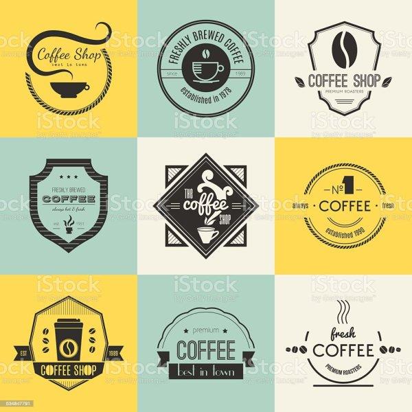 Coffee Logo Collection Stock Vector Art &