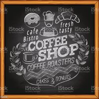 Coffee Shop On Chalkboard Stock Vector Art & More Images ...