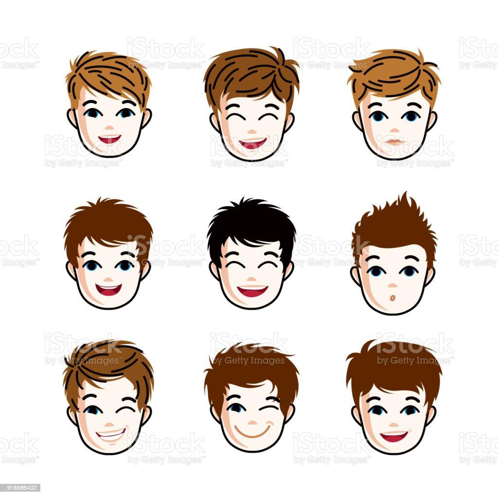 Cartoon Boy With Brown Hair Cartoon Character