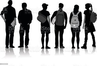 students student clip college vector clipart illustration shadow graphic illustrations silhouette highschool graphics working visit library vectors academy years istock