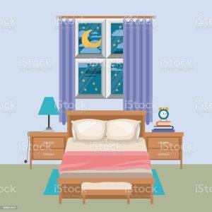bedroom vector dark clip window night background similar illustrations graphics illustration vectors