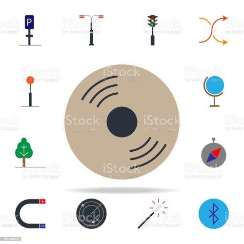 small resolution of colored cd disk icon web icons universal set for web and mobile royalty free
