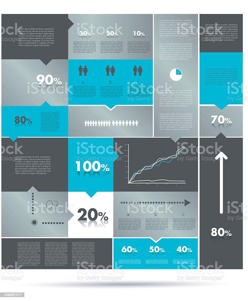 medium resolution of diagramma riquadri colorati infografiche modulo grafico illustrazione royalty free
