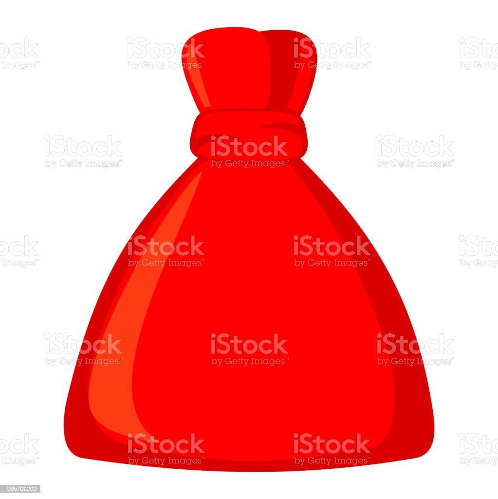 colorful cartoon red santa