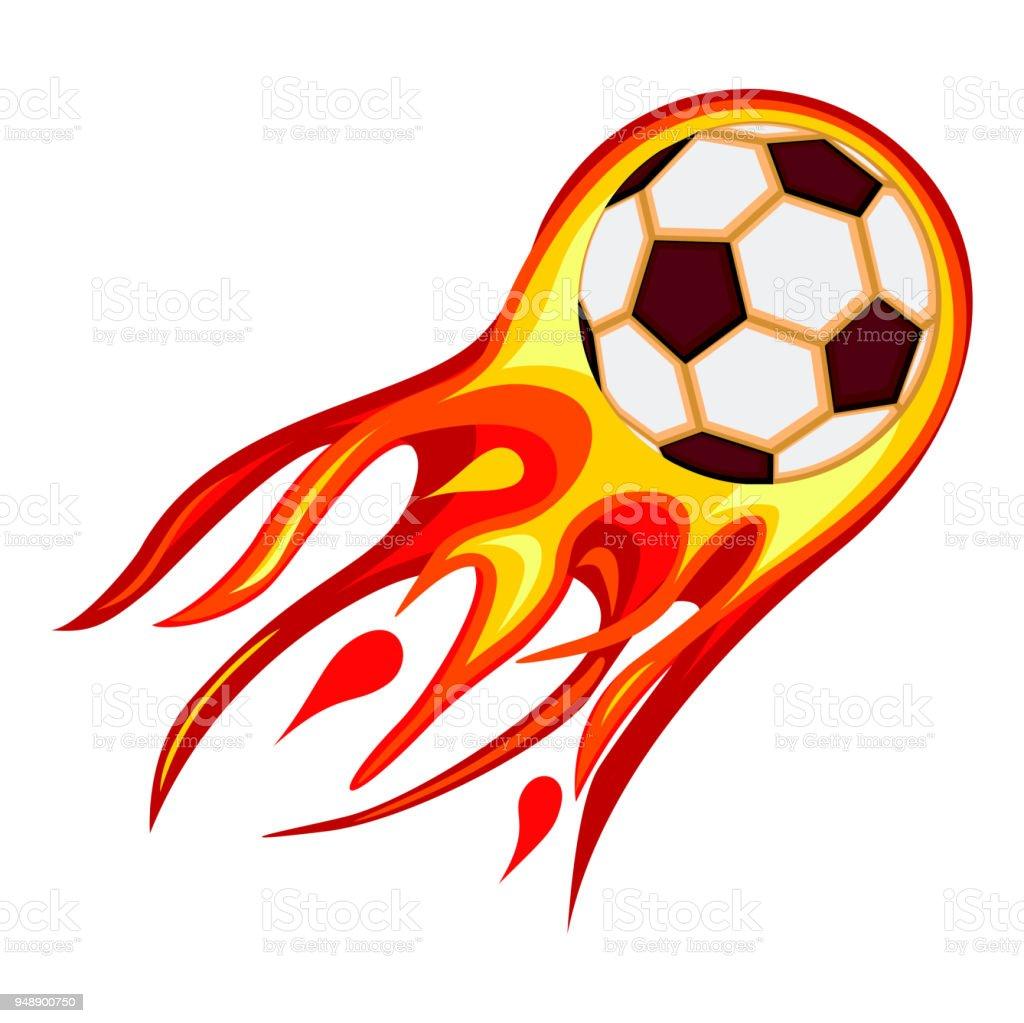 彩色卡通足球快球火焰向量圖形及更多2018圖片 - iStock