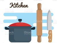 Colorful Kitchenware Design Gm Widescreen For Iphone High Resolution Stock Vector Art