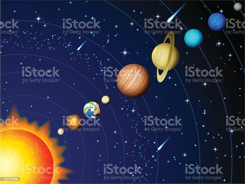 small resolution of colorful vector diagram of the solar system illustration