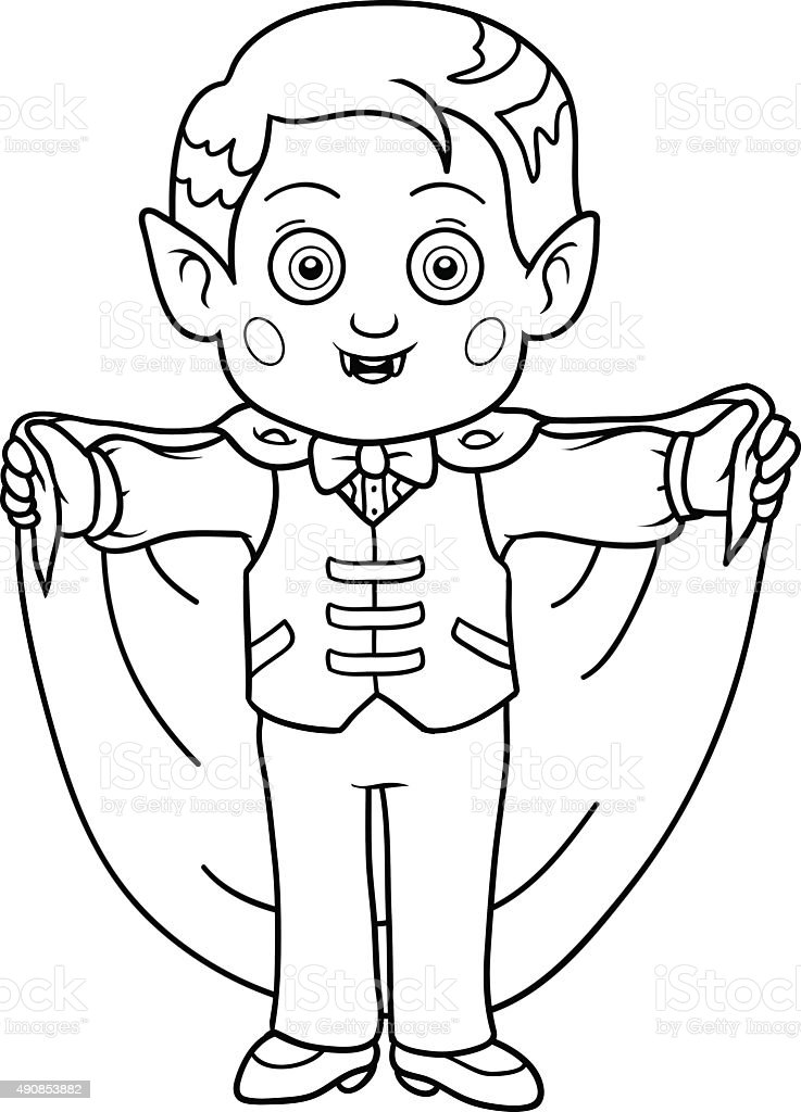 Coloring Book For Children Halloween Characters Stock