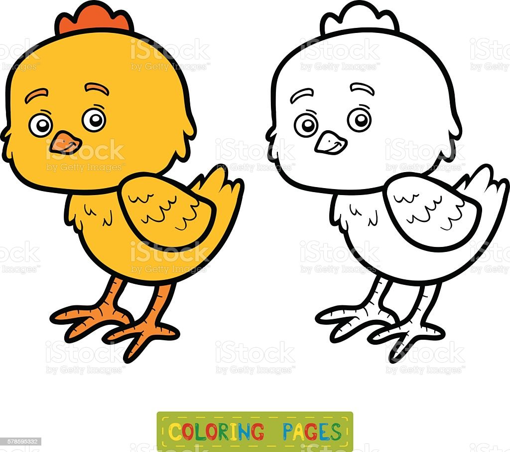 Coloring Book For Children Little Chick Royalty Free Stock Vector Art