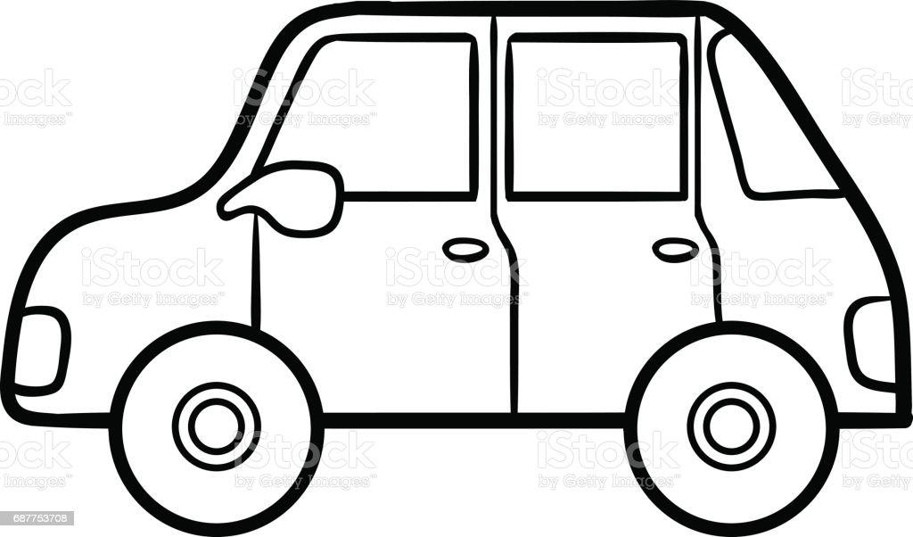 Çocuklar Araba Boyama Kitabı Stok Vektör Sanatı & Anaokulu