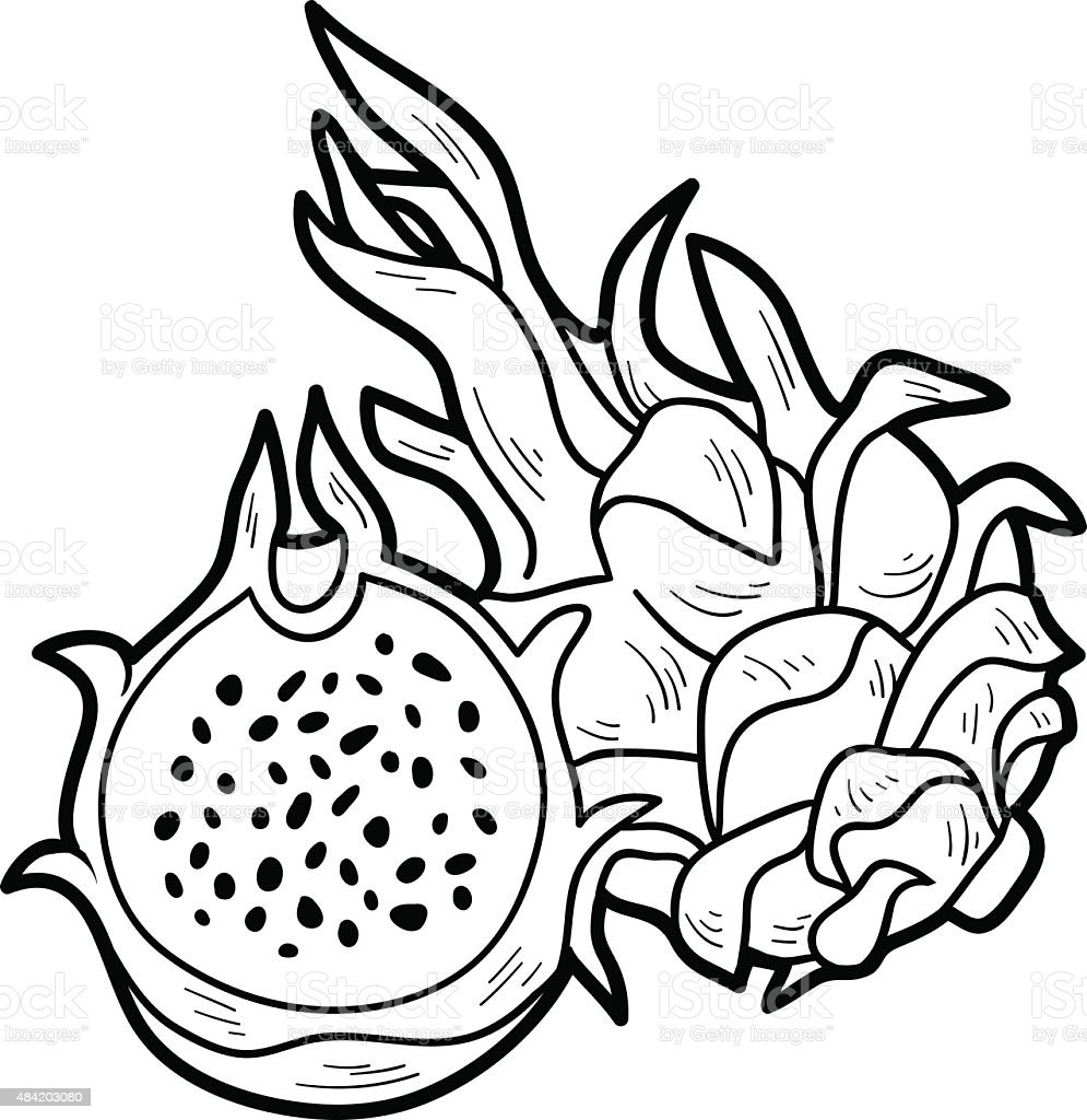 Coloring Book Game Fruits And Vegetables Stock Vector Art