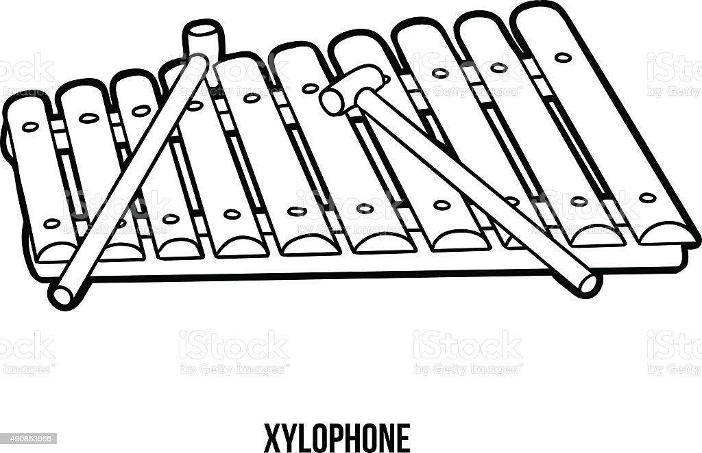 Coloring Book Musical Instruments Stock Vector Art & More