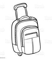 Koffer Zum Ausmalen   Vorlagen zum Ausmalen gratis ausdrucken