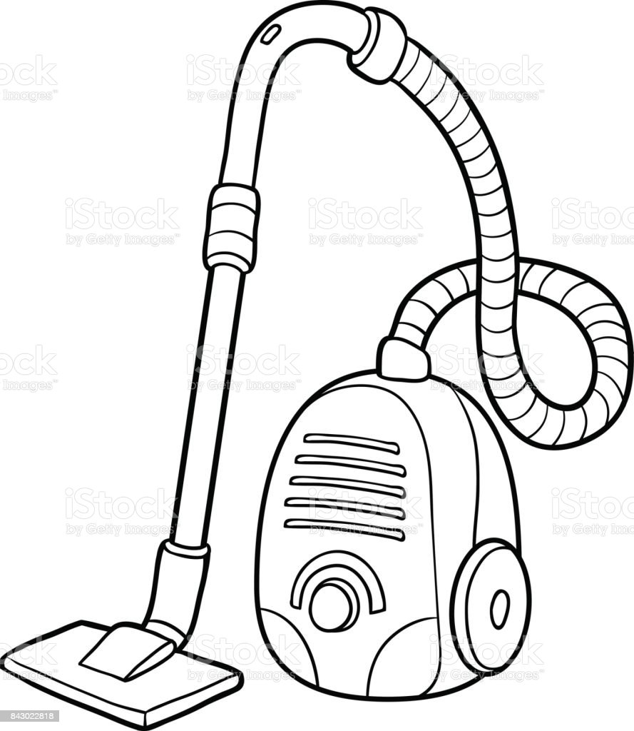 Coloring Book Vacuum Cleaner Stock Vector Art More Images Of