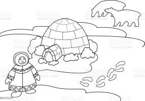 malvorlage eskimo und fische   Coloring and Malvorlagan