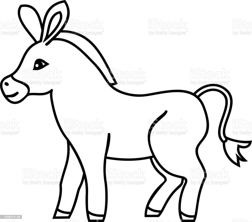 Malvorlage Esel Einfach Coloring and Malvorlagan