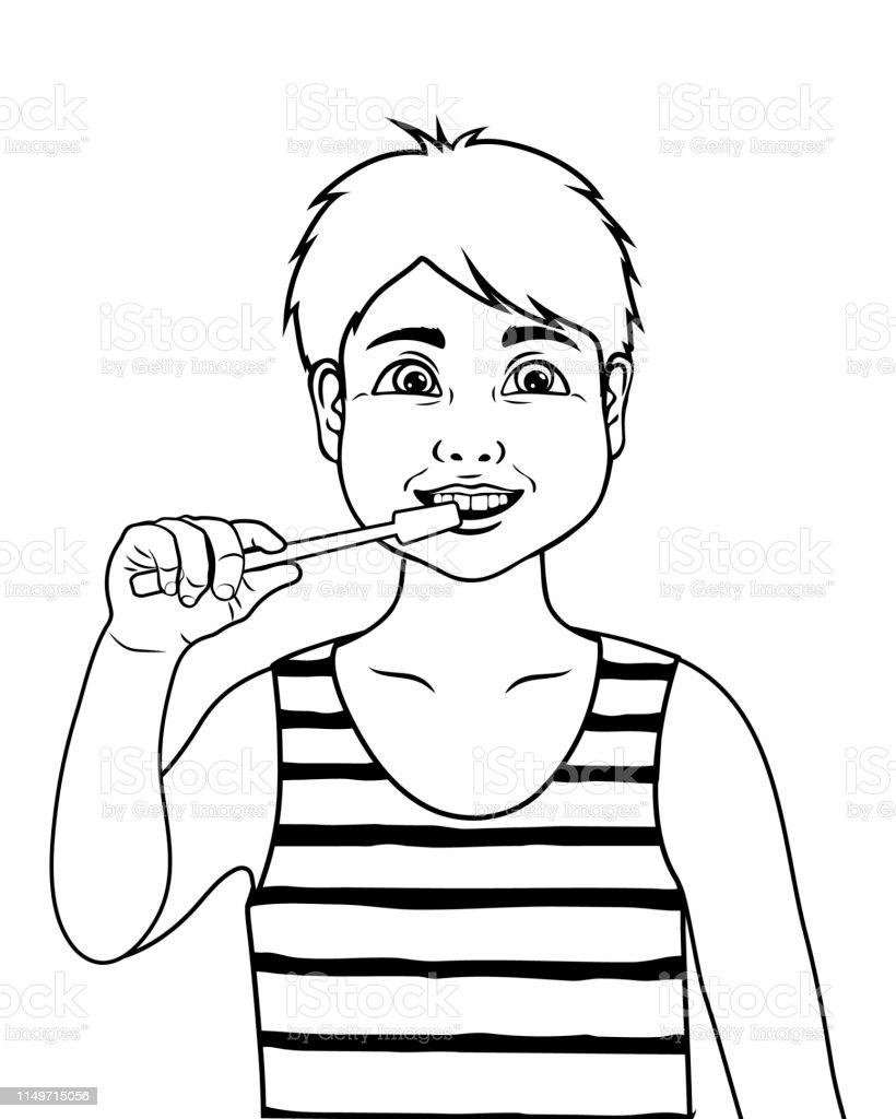 Coloring Page Outline Of Cartoon Boy Coloring Book For