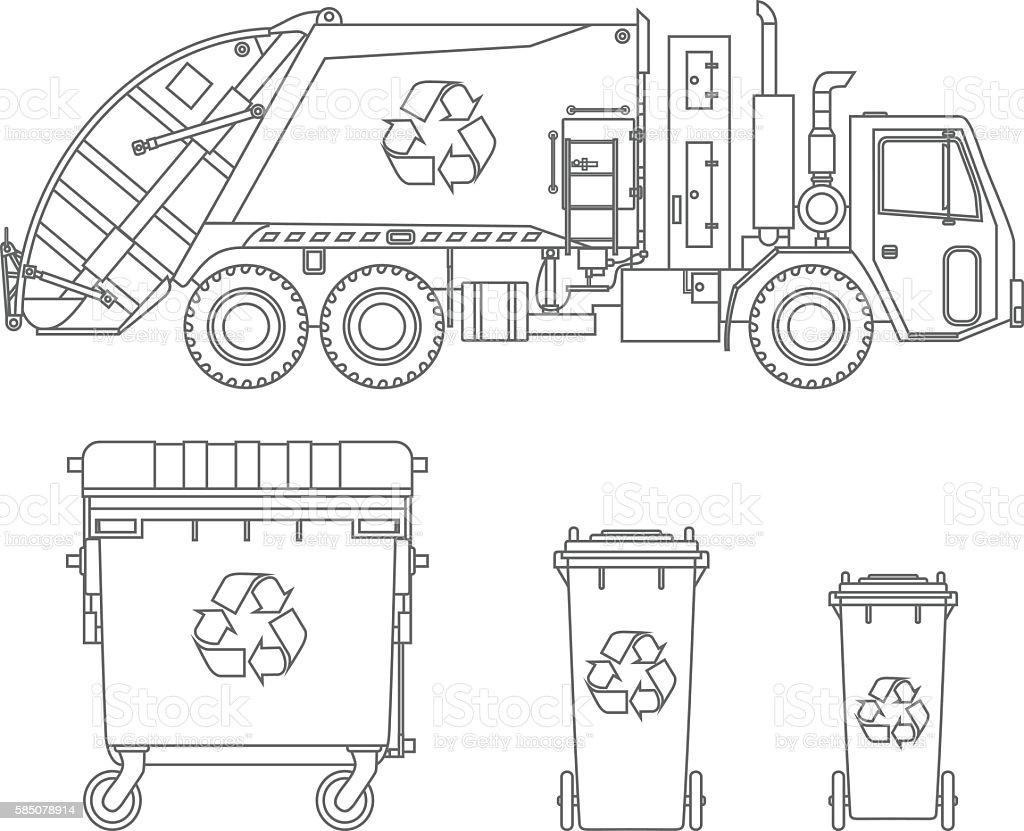 Refuse Box Auto Electrical Wiring Diagram Mars 10464 Coloring Pages Garbage Truck And Different Types Of