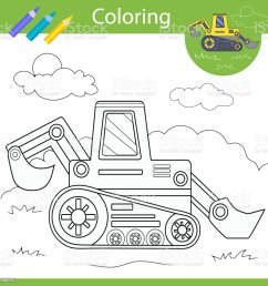 Coloring With Draw Tractor Drawing Worksheets Children Funny Picture  Coloring Page For Kids Drawing Lesson Activity Art Game For Book Vector  Illustration Stock Illustration - Download Image Now - iStock [ 1024 x 1024 Pixel ]