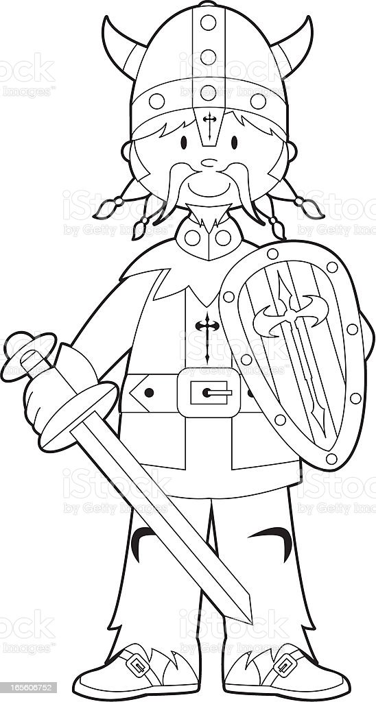 Colour In Viking Stock Vector Art & More Images of Adult