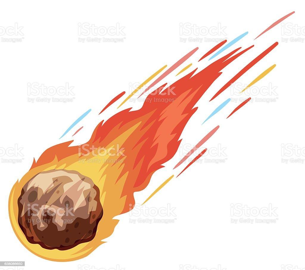 Colorear el dibujo de una estrella fugaz es muy fácil en dibujos.net. Royalty Free Asteroid Clip Art, Vector Images