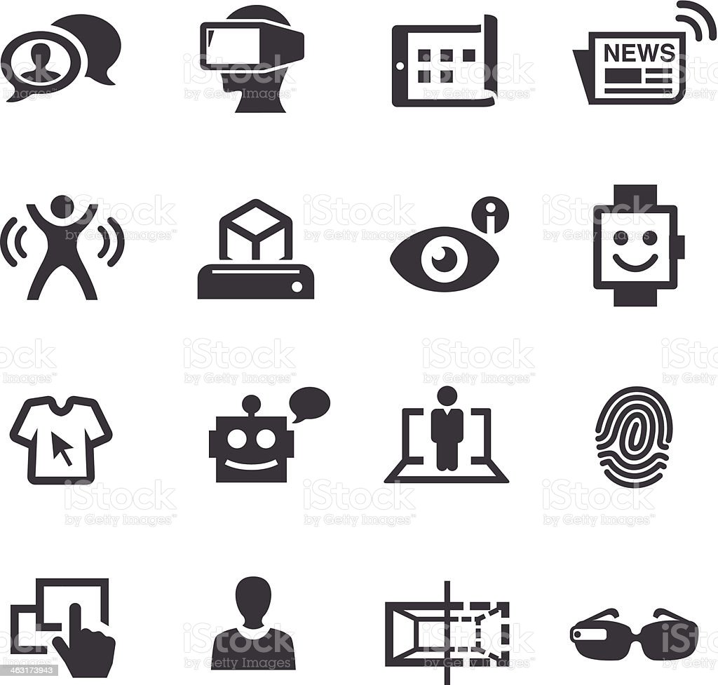 Communication And Digital Technology Icons Acme Series