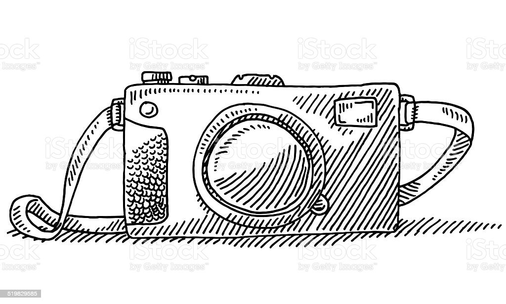 Compact Travel Camera Drawing Stock Vector Art & More