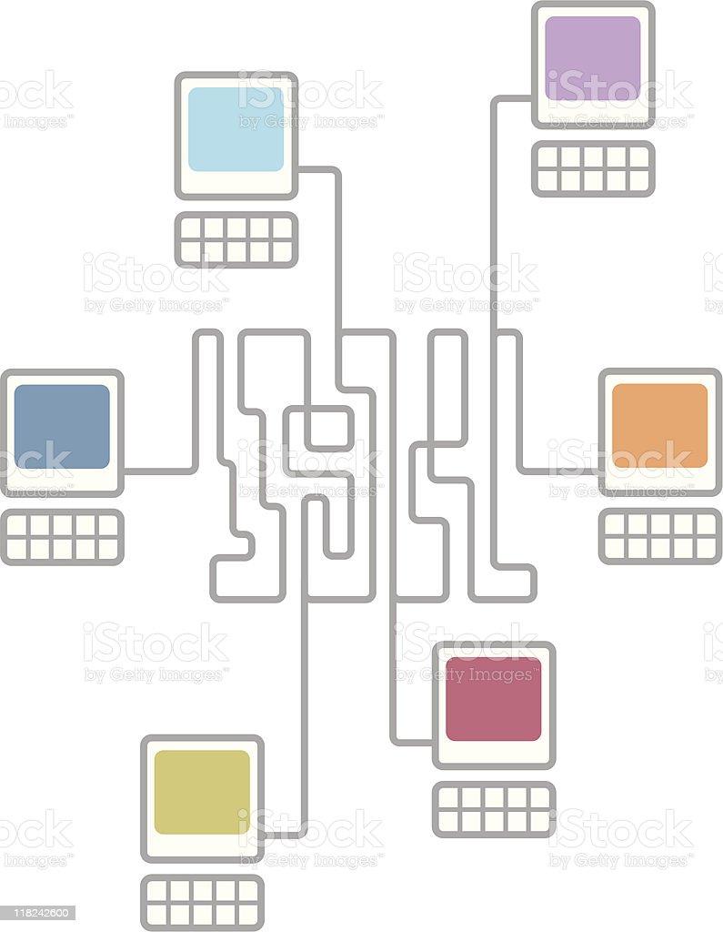 medium resolution of complex computer network connecting diagram illustration
